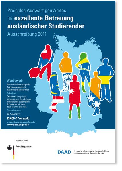 Plakat Exzellente Betreuung ausländischer Studierender